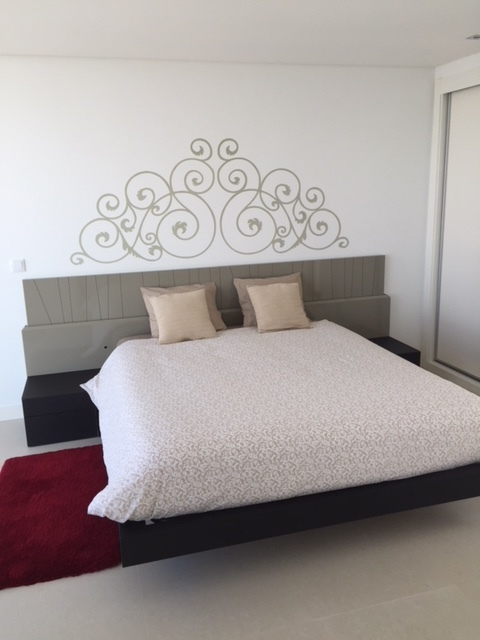 Other bedrooms - On the top floor we have two bedrooms; one with a queen-size bed and the other with a comfortable double pull-out bed, and a big terrace to enjoy the views.The bathroom on the top floor has a walk in rain shower and toilet. .
