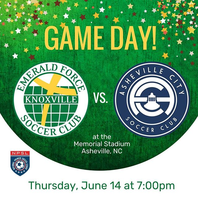 The Emerald Force men's team head to Asheville to take on Asheville City Soccer Club for the second straight game. #NPSL