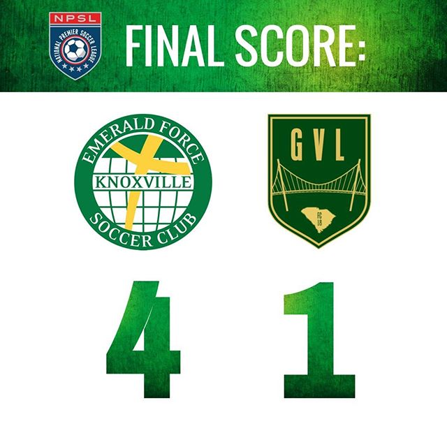 Emerald pulls out a tough win over Greenville FC, coming out on top 4-1. #NPSL