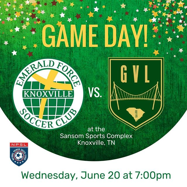 The Emerald Force men's team takes on Greenville FC tonight at Sansom Sports Complex at 7:00pm. #NPSL