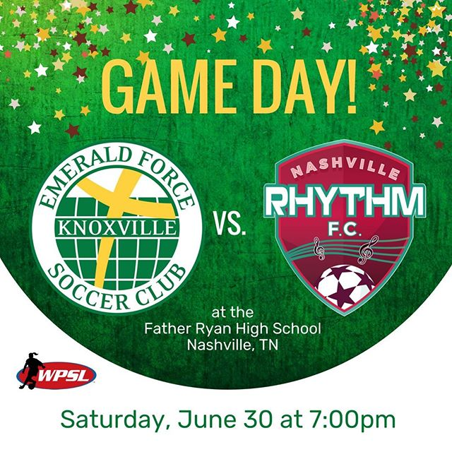 The Emerald Force women's team close out their season tonight in Nashville. They take on the Nashville Rhythm at 7:00pm. #WPSL