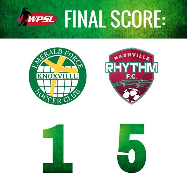 The Emerald Force women's team close out their season with a 5-1 loss to the Nashville Rhythm. #WPSL