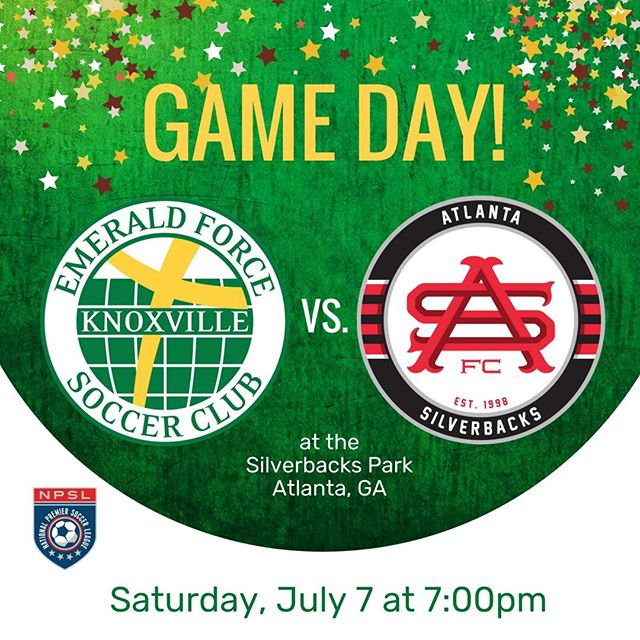 The Emerald Force men's team wrap up their season tonight against the Atlanta Silverbacks in Atlanta. #NPSL