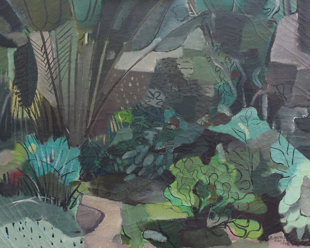 3. Roberto Burle Marx,  Landscape , c.1943, Brighton and Hove Museums and Art Galleries.  The Art of Diplomacy - Brazilian Modernism Painted For War , 2018. Embassy of Brazil London.