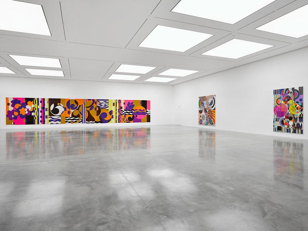 1. Beatriz Milhazes,  Rio Azu l, White Cube Gallery, 2018, London