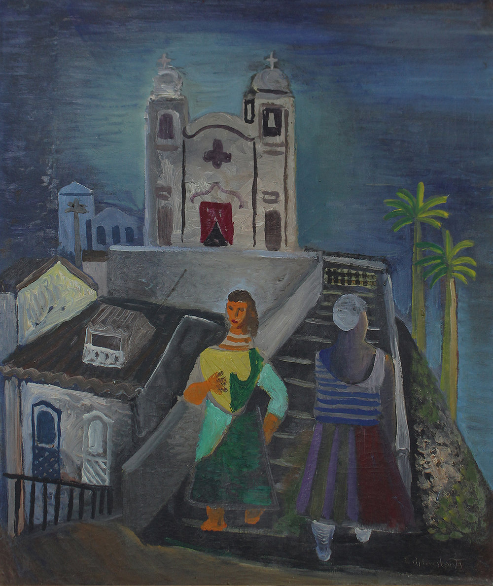 2. Emiliano Di Cavalcanti,  Woman from Bahia,  n. d.   Brighton and Hove Museums and Galleries . The Art of Diplomacy - Brazilian Modernism Painted For War , 2018. Embassy of Brazil London
