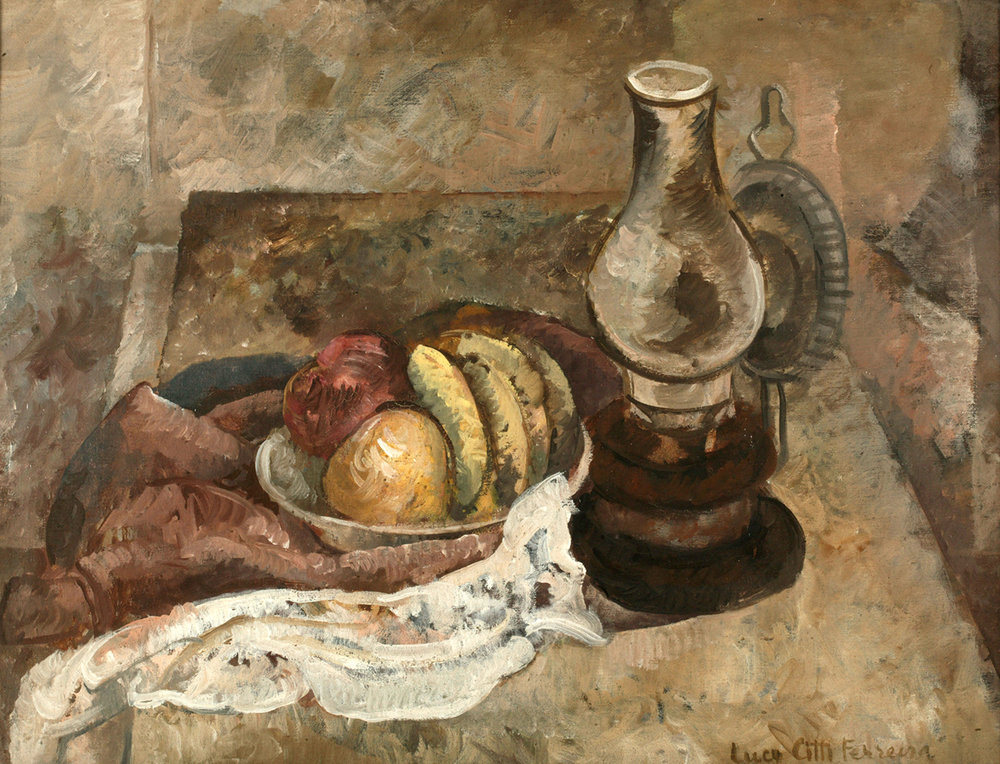 7. Lucy Citti Ferreira,  Still Life with a Lamp , n.d., Manchester Art Gallery.  The Art of Diplomacy - Brazilian Modernism Painted For War , 2018. Embassy of Brazil London