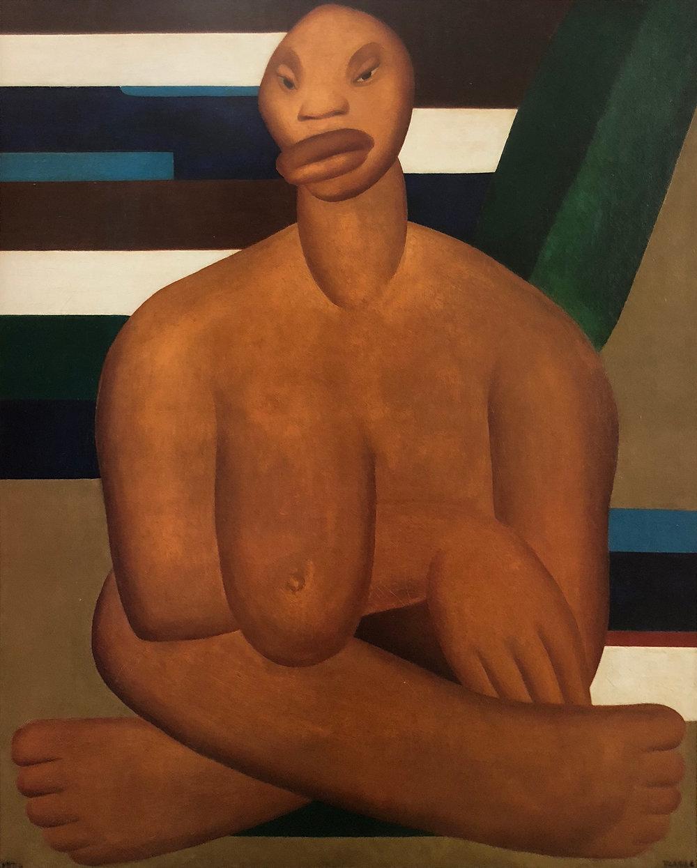 10.  A Negra , c. 1923, Tarsila do Amaral, Museu de Arte Contemporânea da Universidade de São Paulo.  Tarsila do Amaral: Inventing Modern Art in Brazil , MoMA, 2018, New York.