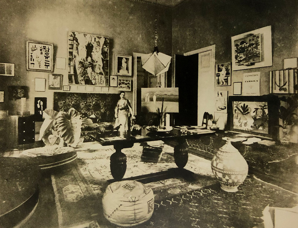 11. Tarsila do Amaral in her home c. 1930, Arquivo do Instituto de Estudos Brasileiros da Universidade de São Paulo.  Tarsila do Amaral: Inventing Modern Art in Brazil , 2018, MoMA, New York