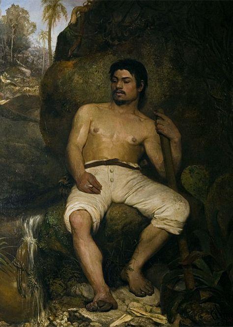 17. José Ferraz de Almeida Júnior,  O Derrubador Brasileiro , c. 1879. Museu Nacional de Belas Artes, Rio de Janeiro