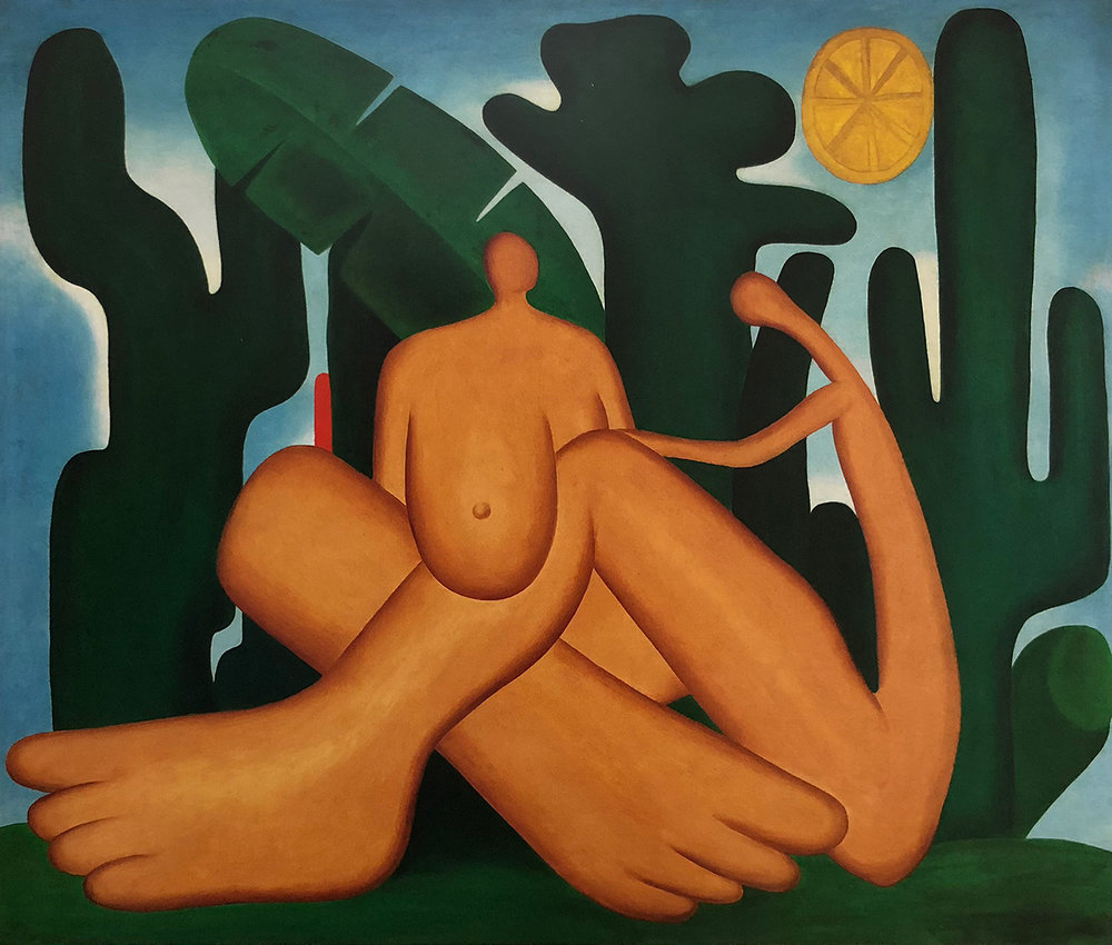 18. Tarsila do Amaral,  Anthropophagy , c. 1929, Acervo da Fundação José e Paulina Nemirovsky | Pinacoteca do Estado de São Paulo.  Tarsila do Amaral: Inventing Modern Art in Brazil , 2018, MoMA, New York