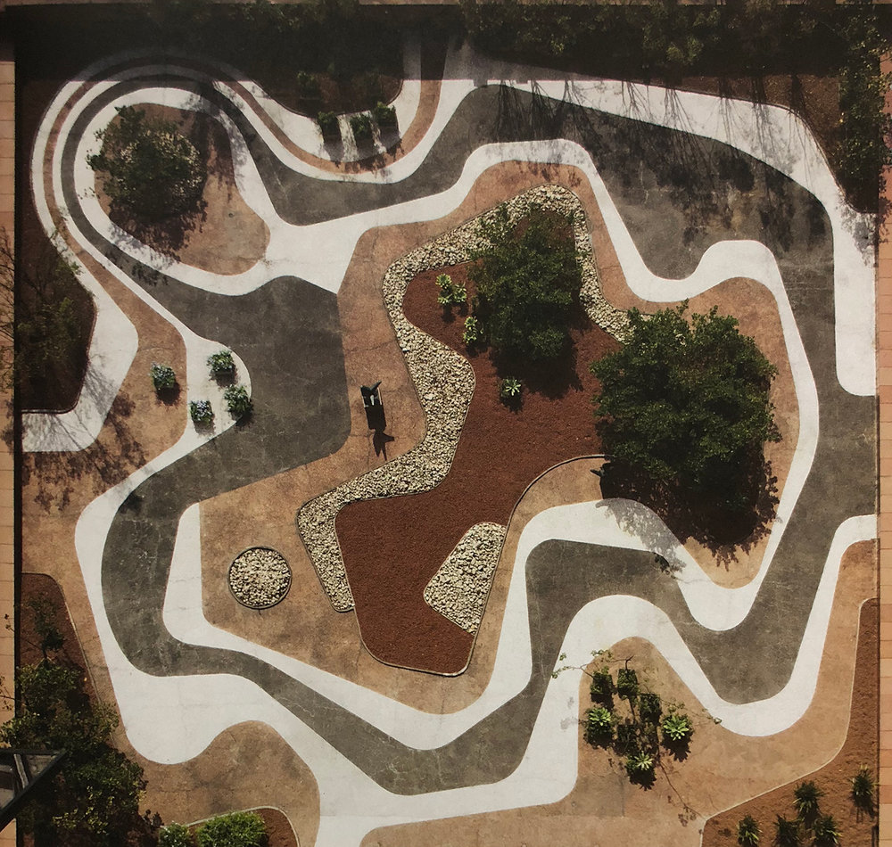 24. Roberto Burle Marx, Mineral roof garden, Banco Safra Headquarters, 1983, São Paulo.  Roberto Burle Marx - Brazilian Modernist , 2015, The Jewish Museum, New York