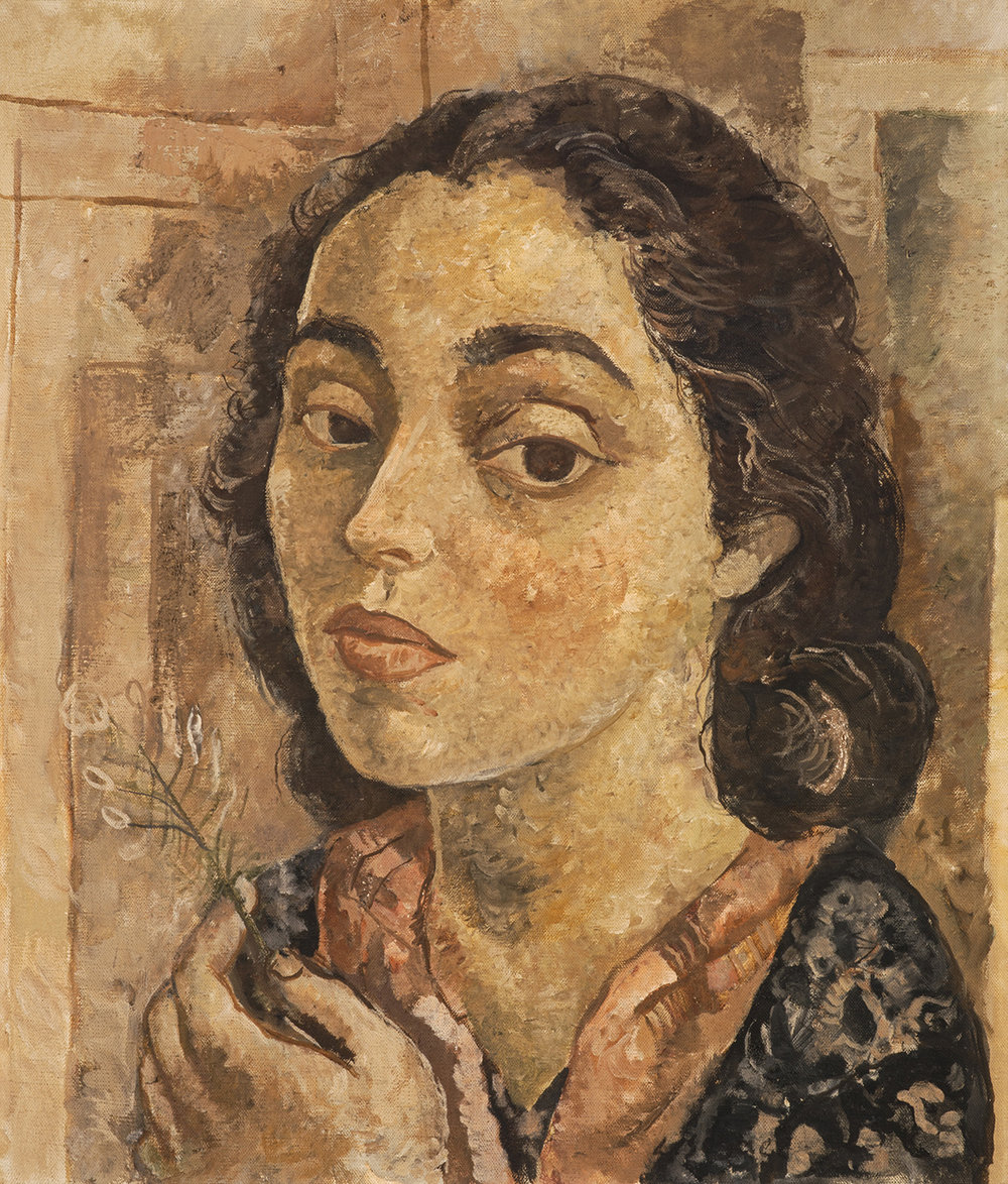 27. Lasar Segall,  Lucy with Flower , c. 1939 - 42, Scottish National Gallery of Modern Art.  The Art of Diplomacy - Brazilian Modernism Painted For War , 2018. Embassy of Brazil London