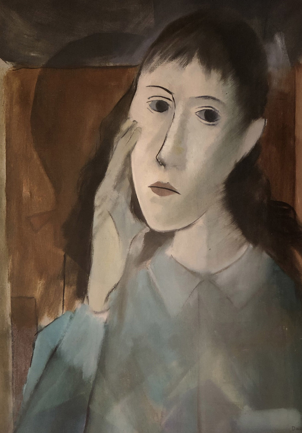 28. Milton DaCosta,  Head of a Girl , c. 1942, Plymouth Museums and Galleries.  The Art of Diplomacy - Brazilian Modernism Painted For War , 2018. Embassy of Brazil London