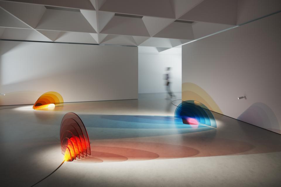 Radiance  installation at London Design Biennale 2018. Courtesy of Haberdashery.