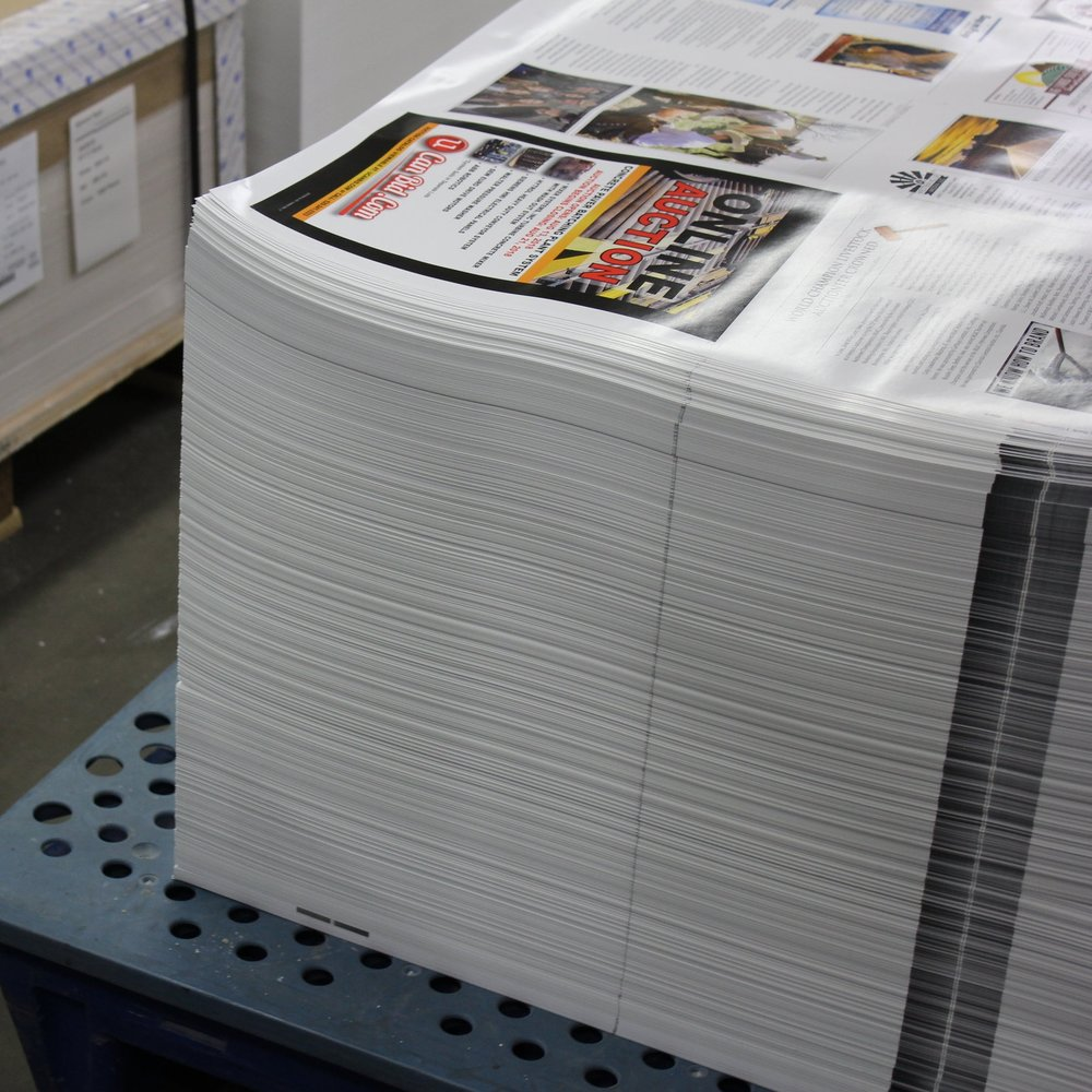 A stack of publications