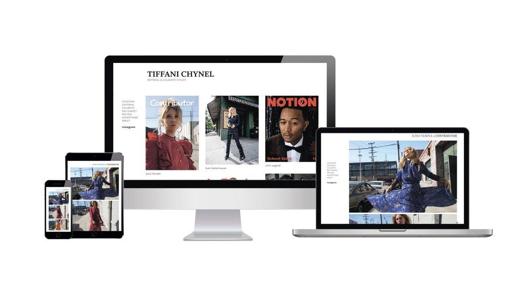 Tiffani Chynel - Website redesign, copy optimization.