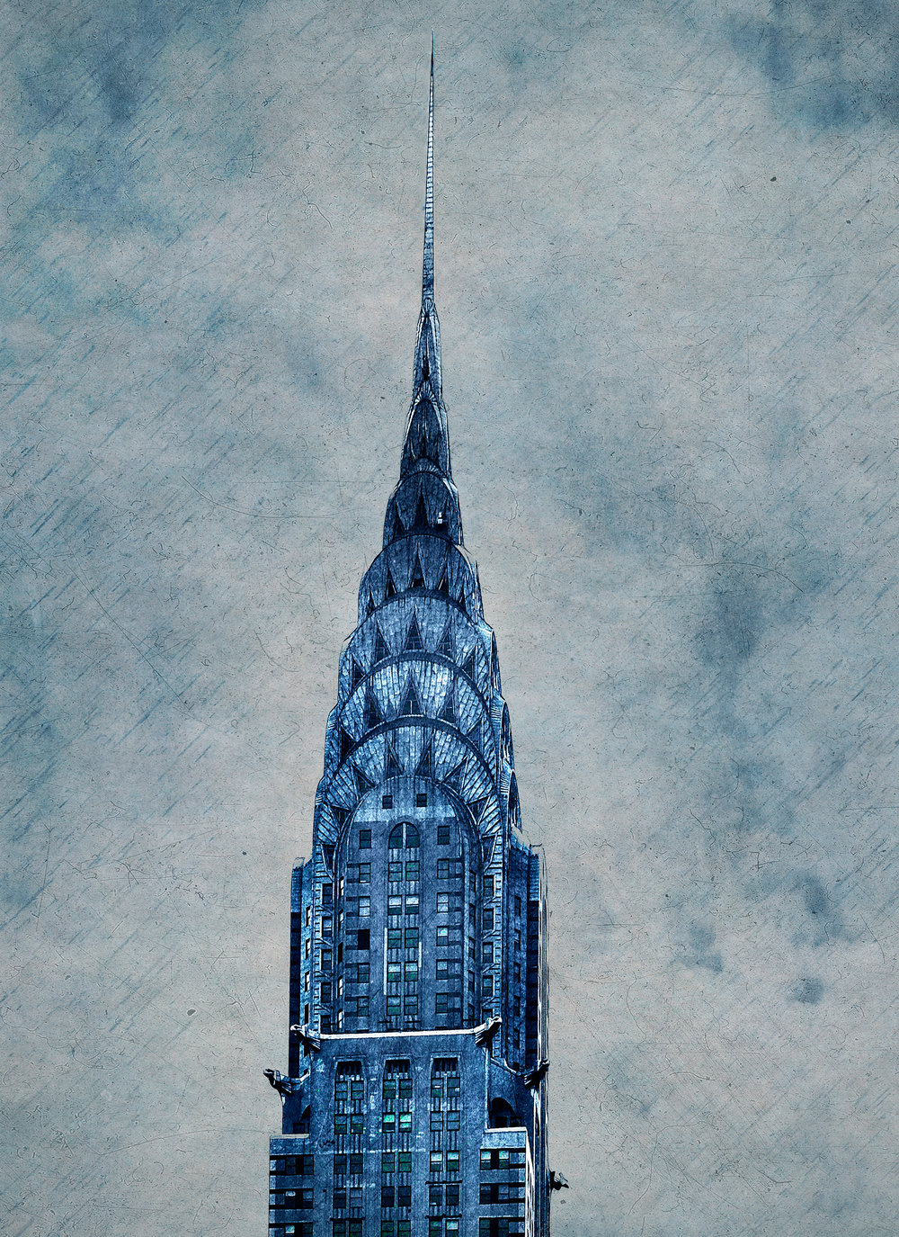 "Blue Chrysler , NYC 12.5""x16"" Edition of 20"