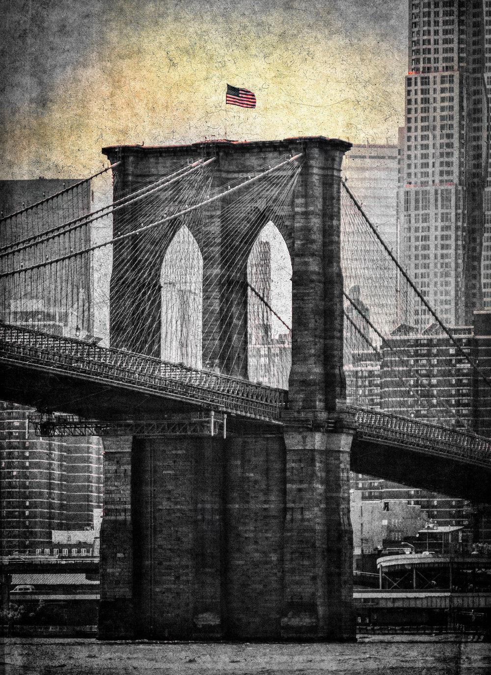 "The Brooklyn Bridge , NYC 12.5""x16"" Edition of 20"