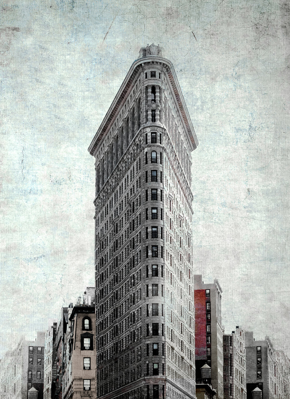 "Flatiron Rising , NYC 12.5""x16"" Edition of 20"