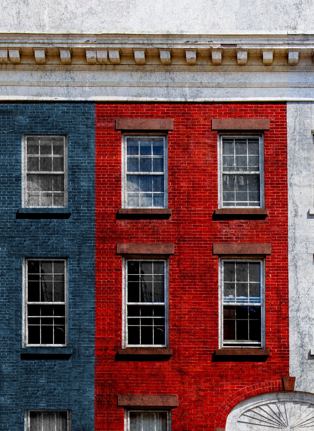 "Red, White and Blue , NYC 12.5""x16"" Edition of 20"