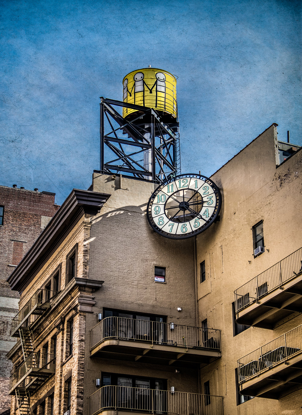 "Tower and Clock , NYC 12.5""x16"" Edition of 20"