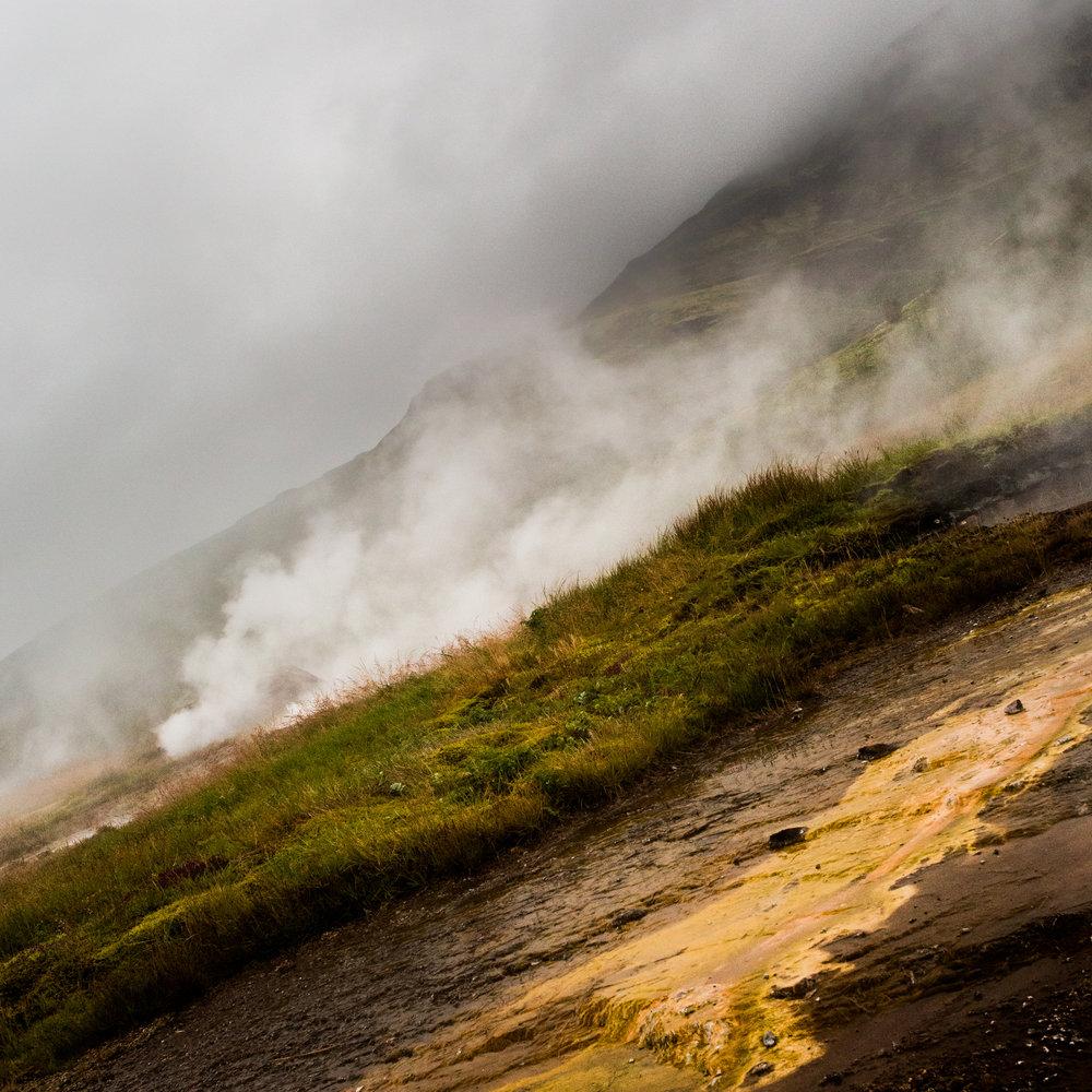 "Smoke Slide , Iceland 16""x16"" Open Edition"