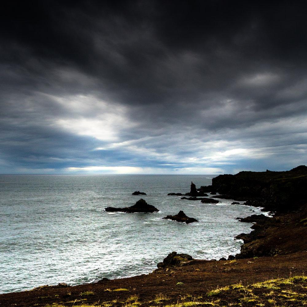 "Rocky Coast , Iceland 16""x16"" Open Edition"