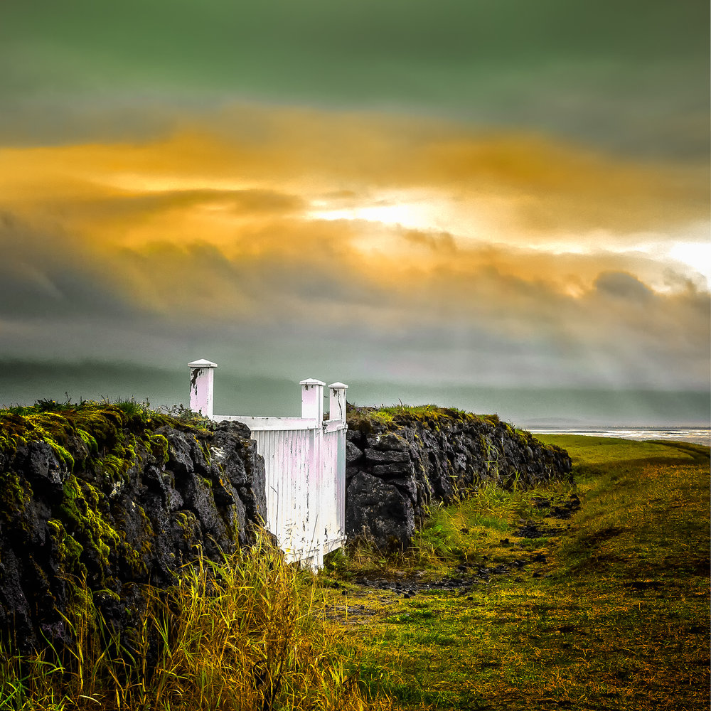 """White Gate , Iceland 16""""x16"""" Open Edition"""