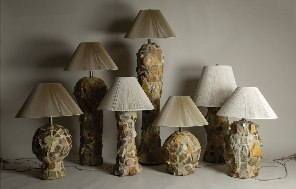 Santa Monica Mountains - Stone Masonry Lamp Series