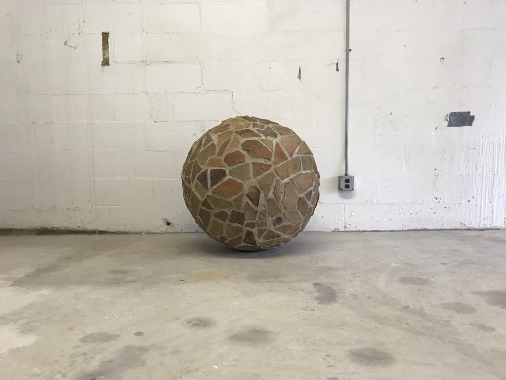 """Ozark Giraffe Sphere"" - Site Specific Sculpture for a Property in Osage County."