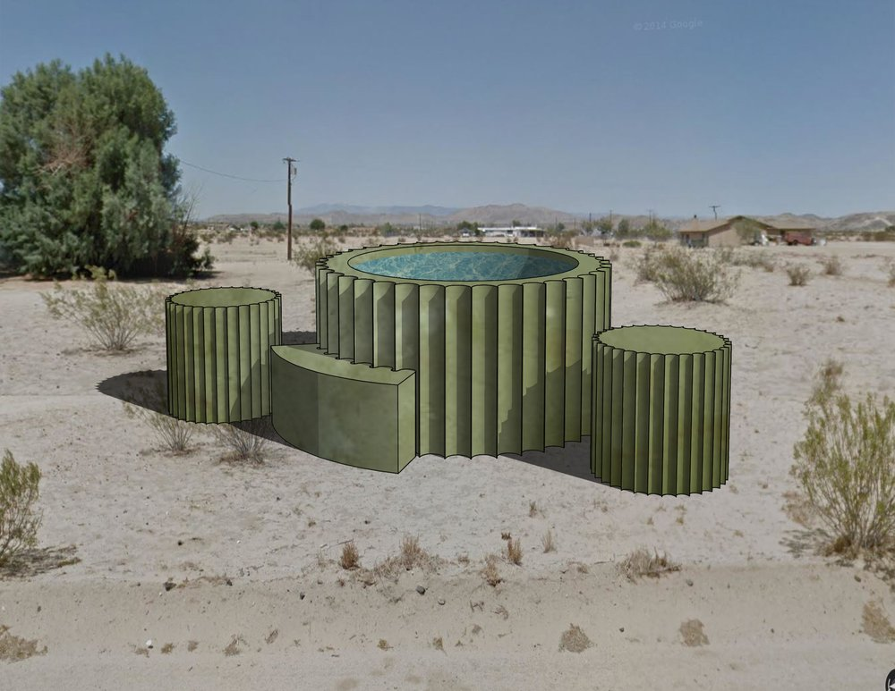 """Cactub"" - Site Specific Functional Sculpture for a property in Joshua Tree, CA."
