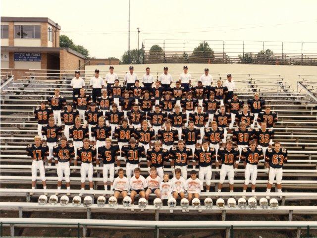 1987 Anderson Redskins Varsity Team
