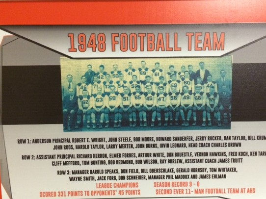 Anderson Football's first undefeated football team