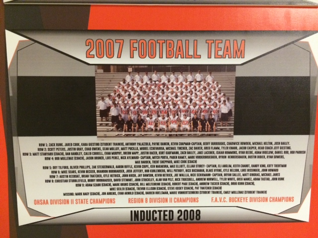 Anderson Football's first State Title Winner (2007 Division II OHSAA State Champions)