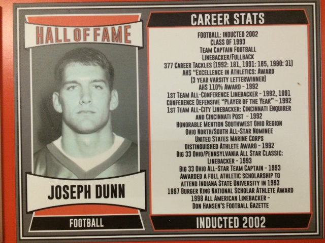 2002 Inductee, Team Captain, 377 career tackles, 1st Team All-Conference, Big 33 Ohio All-Star Captain