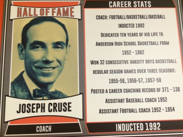 Coached Football, Basketball, and Baseball at Anderson, Assistant Football Coach 1952-1954