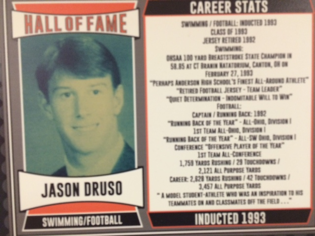 1993 Inductee, Captain, Running Back of the Year, All-Ohio, Division I 1st Team, 2,628 Career Rushing Yards, 42 Touchdowns, 3,457 All-Purpose Yards