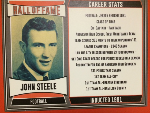 1991 Inductee, Co-Captain, Member of Anderson Football's First Undefeated Team, League Champions, 23 Touchdowns in 1948