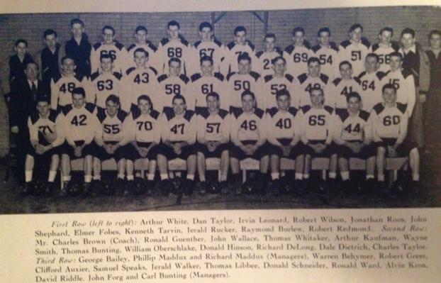 1949 - Mt.Healthy 25-0 WinSycamore 18-0 WinTerrace Park 22-20 LossColerain 33-7 lossLoveland 57-0 WinSharonville 54-0 WinMaderia 46-25 WinTaylor 19-18 LossHarrison 60-6 LossRecord 5-4 Coach Brown