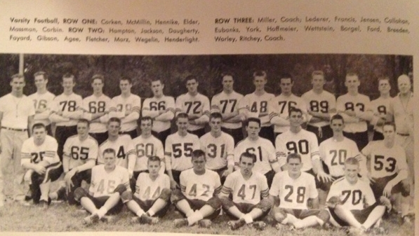 1958 - Mcnick 38-16 lossAmelia 20-0 WinColerain 14-12 WinTaylor 17-0 LossPrinceton 16-0 WinSycamore 20-14 LossHarrison 29-12 LossNorwood 18-8 WinNorth College Hill 20-12 WinRecord 5-4 Coach Miller