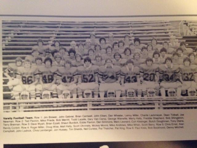 1981 - Mcnick 0-0 TieMilford 21-0 LossOak hills 23-13 LossTurpin 3-0 WinNorthwest 9-7 LossNorwood 14-8 WinMt. healthy 31-6 LossForest Park 16-0 WinColerain 28-7 LossIndian Hill 35-7 WinRecord 4-5-1 Coach Stowe