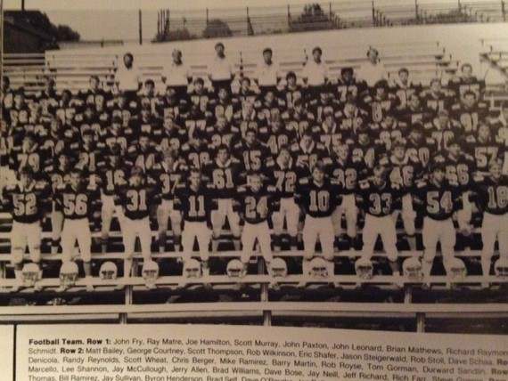 1986 - Mcnick 6-0 LossGreenhills 16-8 LossNorwood 20-14 LossAmelia 25-13 LossMilford 13-10 LossGlen Este 14-7 LossSycamore 13-0 LossWithrow 18-0 LossTurpin 6-3 WinNorthwest 24-21 LossRecord 1-9 Coach Stowe