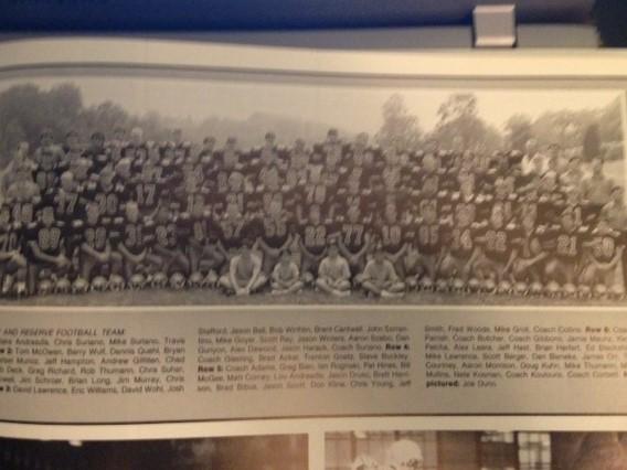 1990 - Mcnick13-0 WinSycamore 20-17 LossForest Park forfeitNorthwest 14-7 lossAmelia 21-13 WinDayton Patterson 22-19 WinTurpin 13-7 LossWalnut Hills 42-6 WinGlen Este 57-17 WinNorwood 35-21 WinRecord 7-3 Coach Suriano