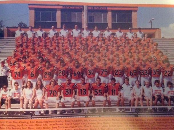 2004 Anderson Redskins Varsity Team
