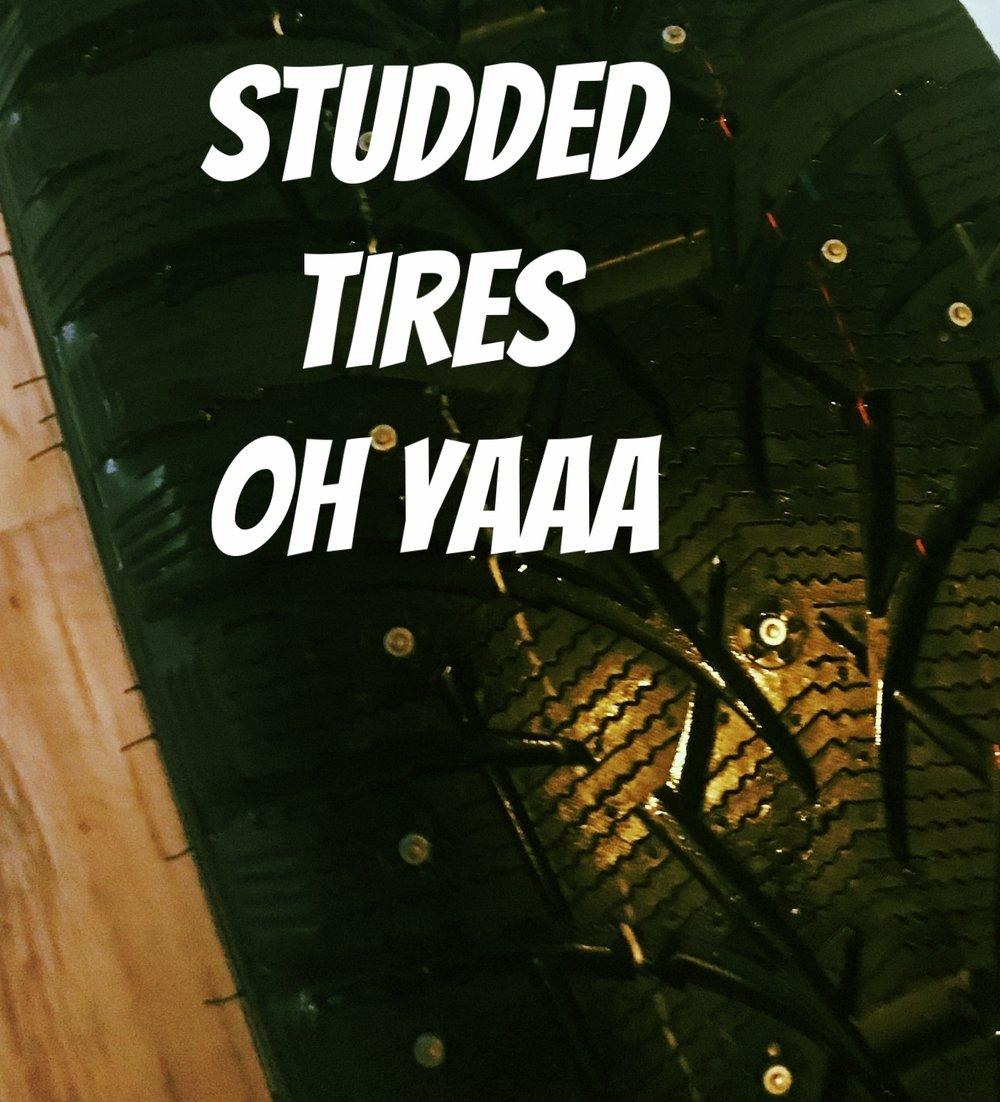 Studded tires oh yaaa