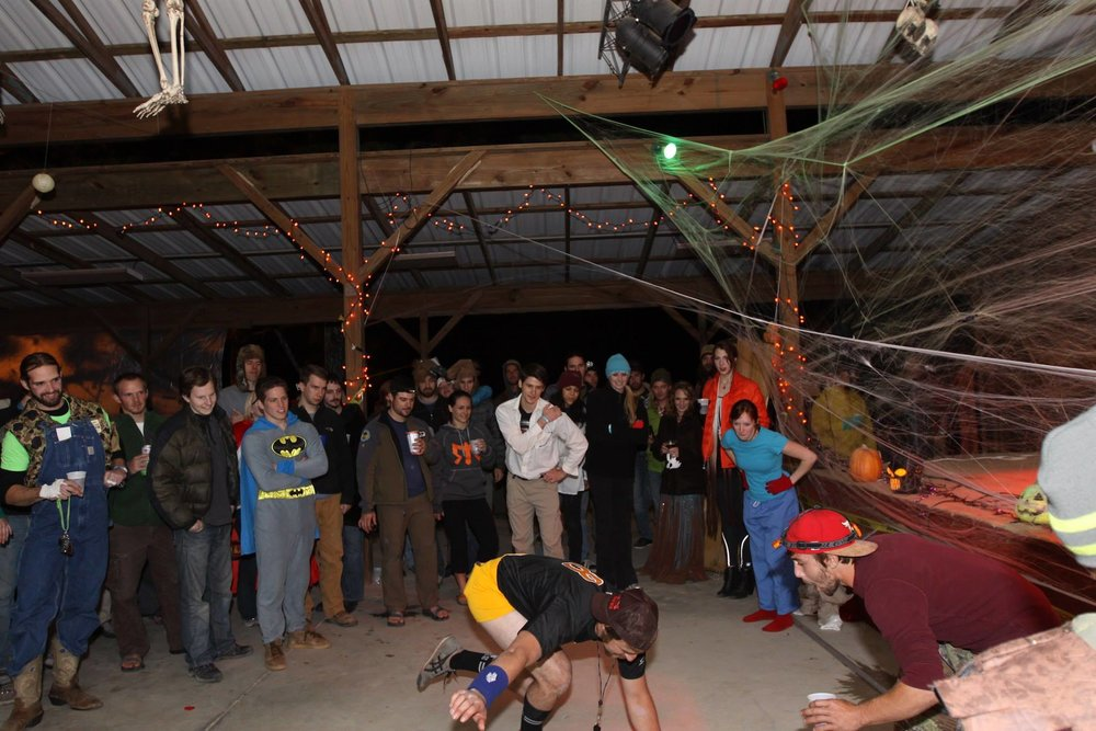 Boulderween breakdancing circa 2013. Courtesy of Lauren Cheek Clemmons.