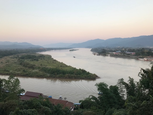 View of the Mekong River.