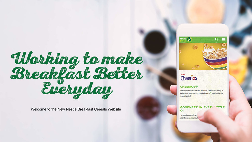 The new Nestlé Breakfast Cereal Website. Working to make breakfast better every day.