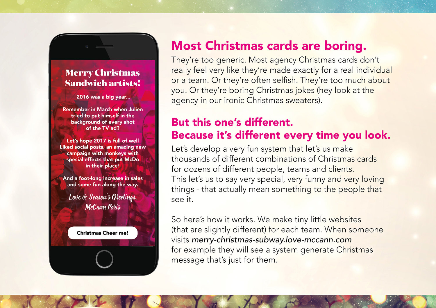 McCann Paris: 9,765,625 Random Christmas Cards - Website Generator ...